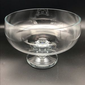 Vintage Heavy Glass Trifle Pedestal Bowl
